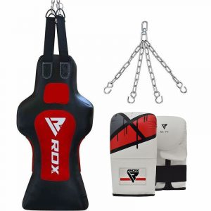 RDX TDR 3-in-1 Hanging Filled Face Punch Bag with Mitts Set