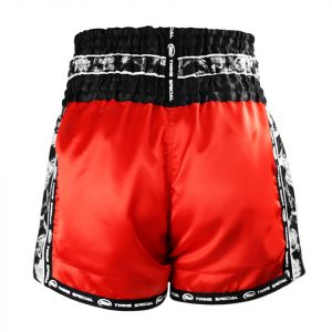 TBS-SK3 Twins Red Skull Muaythai Shorts