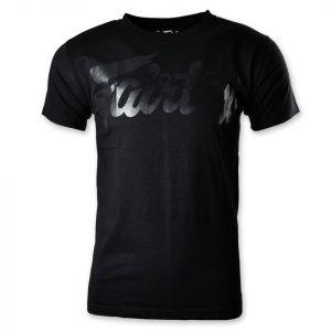 TST180 Fairtex Black-Black Script T-Shirt