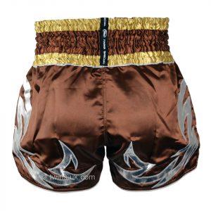 TWS-010 Twins Brown Muaythai Shorts