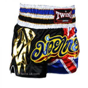 TWS-850 Twins UK Flag Muaythai Shorts